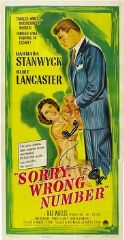 Sorry Wrong Number 1948 DVD - Barbara Stanwyck / Burt Lancaster